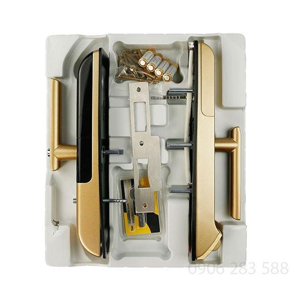 Khóa cửa điện tử vân tay Yale YMD-4109 Gold