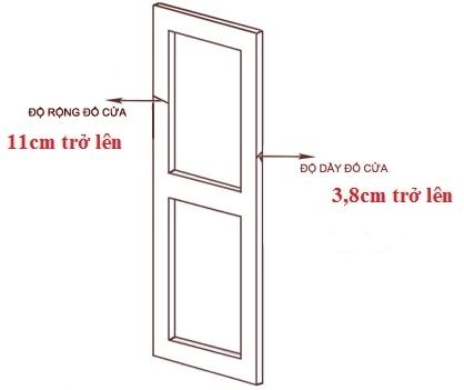 Tiêu chuẩn cửa lắp khóa