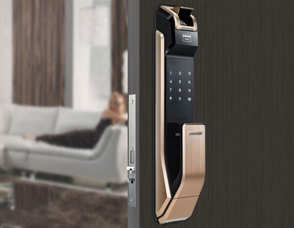 Khóa điện tử Samsung SHS-P718 dòng Đẩy - Kéo
